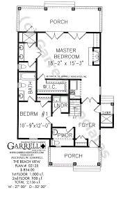 Beach View House Plan   House Plans by Garrell Associates  Inc beach view house plan   st floor plan