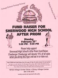 sherwood high school ptsa fundraising for after prom bring a copy in when you dine in or take out