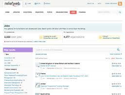 the only five websites you need to a job in development reliefweb int jobs