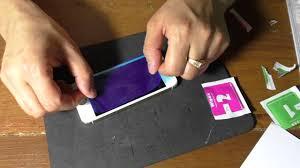 Как наклеить <b>защитное стекло</b> на экран iPhone - YouTube
