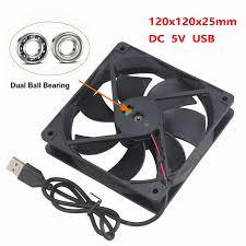<b>1 Piece Gdstime</b> USB Cooler <b>DC</b> 5V 120*120*25mm Ball Bearing ...