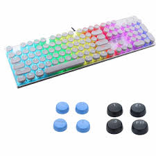 mk13 104 keys usb computer keyboard glowing game pbt keycap mixed light mechanical wired