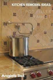 satin nickel pot filler kitchen faucet