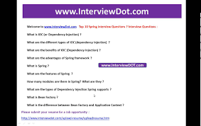 top 10 spring interview questions important spring interview top 10 spring interview questions important spring interview questions