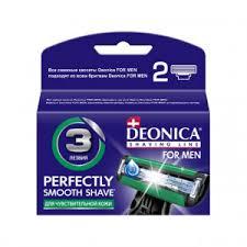 Сменные <b>кассеты Deonica For Men</b> для бритья 3 лезвия 2 шт ...