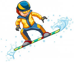 Free Vector | <b>Snowboard jumping</b> isolated on white