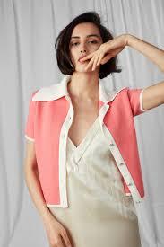 The Knitted Jacket, <b>short sleeve</b> edition, <b>Peach</b> Flower - Ami Amalia ...