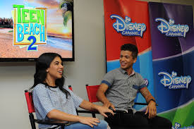 an interview teen beach 2 stars chrissie fit and teen beach 2 teen beach 2 stars chrissie fit and fisher participate