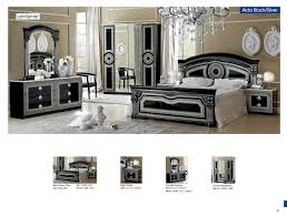 silver white bedroom full size bedroom furniture classic bedrooms aida black w silver camelgroup ital