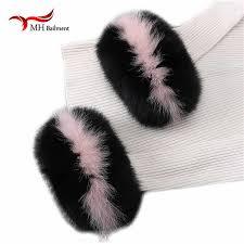 Fox fur Cuffs Hot Sale Wrist Warmer Genuine Fox Fur Cuff Arm ...