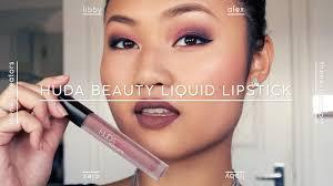 <b>HUDA Beauty</b> Liquid Matte | <b>Spice Girl</b> | Review + Wear Test | Libby ...