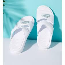 Nike fashion beach <b>slippers couple sandals</b> and Benassi Ultra Duo ...