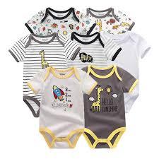 2019 <b>5PCS</b>/<b>Lot Baby</b> Boys Clothes <b>Bodysuits</b> Unicorn 100%Cotton ...