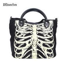 <b>Diinovivo</b> Luminous Gothic Skeleton Bones <b>Skulls</b> Bags Rock ...