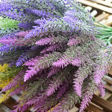 <b>1PCS</b> 25 Heads Romatic <b>Artificial Fake Silk Lavender</b> Flowers ...