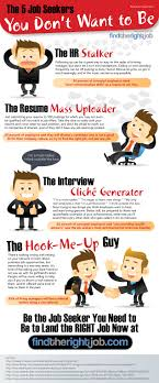 don t act like one of these job seekers infographic jobs the job seeker you don t want to be