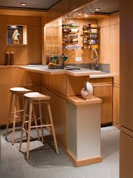 floor and recessed ceiling chic mini bar design