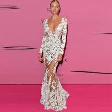 2018 Evening Party Long <b>Lace</b> Dress <b>Women</b> Fish tai Maxi Vestidos ...