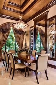 1 tag traditional dining room with crown molding high ceiling pendant light limestone tile floors art deco dining room