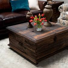 image of rustic trunk coffee table design chest coffee table multifunction furniture