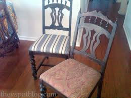 Dining Room Chair Reupholstery Fixer Upper Update Recovering Dining Room Chairs With The Ole
