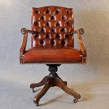 antique leather desk office swivel chair english edwardian armchair c1910 antique leather office chair