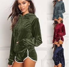 2019 Sportswear <b>Spring Autumn Gold Velvet</b> Tracksuit Womens ...