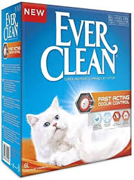 <b>Ever Clean</b> Cat Litter <b>Fast Acting</b> Odour Control, Large, 10 Litre ...