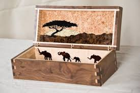 african themed furniture. custom made african themed jewelry box furniture
