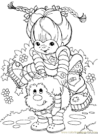 Small Picture Rainbow brite Coloring Pages Online coloring page Rainbow