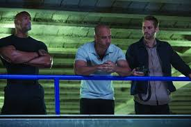 reel talk online 2013 left to right hobbs dwayne the rock johnson dominic diesel and brian paul walker