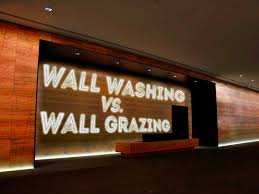accent lighting wall washing vs wall grazing alumleds wall wash lighting