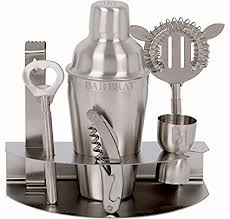 Buy Premium <b>7 Piece Bar Set</b> & Cocktail Shaker Kit / Free 110 ...