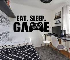 Gamer wall decal <b>Eat Sleep Game wall</b> decal Controller video game ...