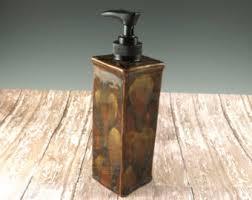 dog faces ceramic bathroom accessories shabby chic: ceramic soap dispenser dish soap dispenser shades of brown liquid soap dispenser hand soap