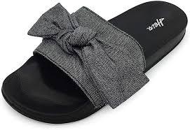 FUNKYMONKEY Women's Slides Sandals Bowknot ... - Amazon.com