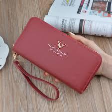 <b>Hot</b> Selling Women Wallets Female <b>Long Zipper Clutch</b> Leather ...