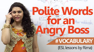business english lesson polite words that are useful for angry business english lesson polite words that are useful for angry bosses learn english vocabulary