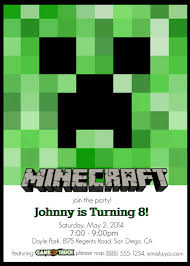 make your own custom printable minecraft party invitations sample of printable minecraft party invitations you can make these custom invitations for a