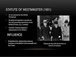 「Statute of Westminster 1931」の画像検索結果