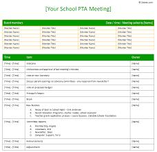 basic order form template   school uniform order form template    pta meeting agenda template