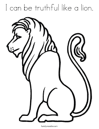 Small Picture The Library Lion Coloring Page Twisty Noodle