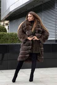 New Women's <b>100</b>% Full Pelt <b>Real Genuine Fox</b> Fur Coat Jacket ...