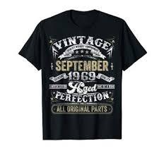 <b>Classic</b> 50th birthday gift <b>Men women</b> Vintage September 1969 <b>T</b>-Shirt