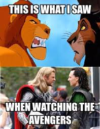 Memecrunch: The best meme generator |Â Lion King Loki And Thor ... via Relatably.com