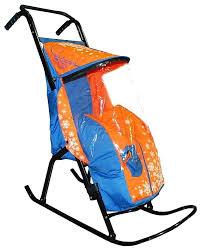 Купить <b>санки</b>-<b>коляска RT Снегурочка</b>-2-Р1 Снежинки цвет ...