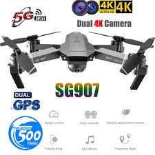 Helicopters SG907 GPS Drone with <b>4K</b> HD <b>Dual</b> Camera WIFI FPV ...