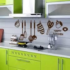 Silly DIY Home Decor Art Vinyl <b>Happy Kitchen</b> PVC Mural Decal ...