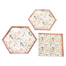 Koyal <b>Wholesale</b> Vintage <b>Floral</b> Tea Party <b>Set</b>, Peach Peonies, 48 ...