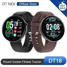 DT NO.1 DT18 <b>Smart Watch</b> Round Touch Screen <b>Smartwatch</b> Heart ...